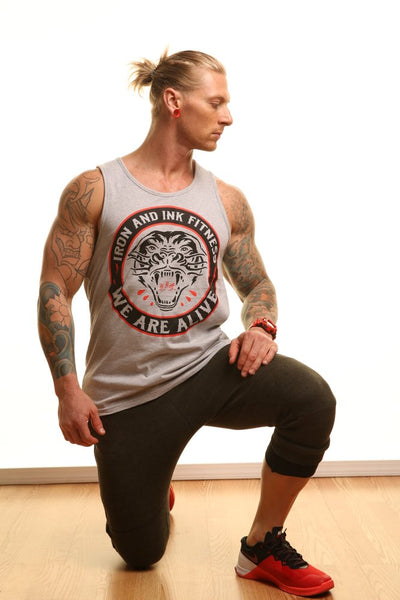 """WE ARE ALIVE"" TANK- HEATHER GREY"