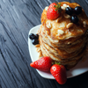 BLUEBERRY CAKE BATTER PROTEIN PANCAKES