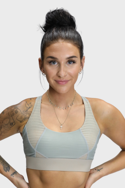 INSTINCT RIBBED MESH BRA - UNBOWED