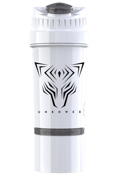 UNBOWED Cyclone Shaker Cup in white
