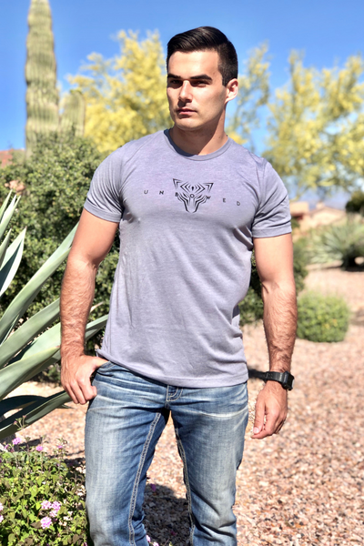 UNBOWED Men's Tri-Blend Tee in Storm