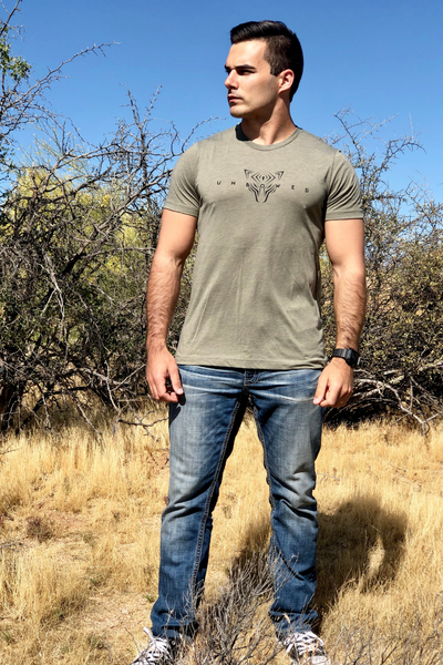 UNBOWED Men's Tri-Blend Tee in Forest