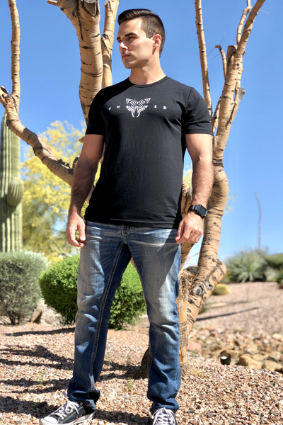 UNBOWED Men's Tri-Blend Tee in Midnight