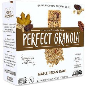 MAPLE PECAN DATE GRANOLA BARS