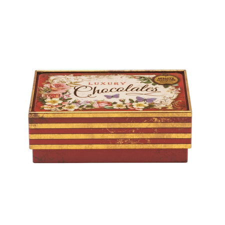 קופסת פח : Red Small Chocolate Tin