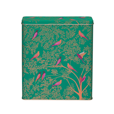 קופסאת פח גבוהה : Sara Miller - Green Bird Cereal Tin