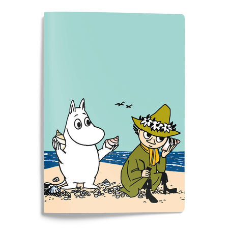 מחברת A5 כריכה רכה: Moomintroll & Snufkin On A Shore