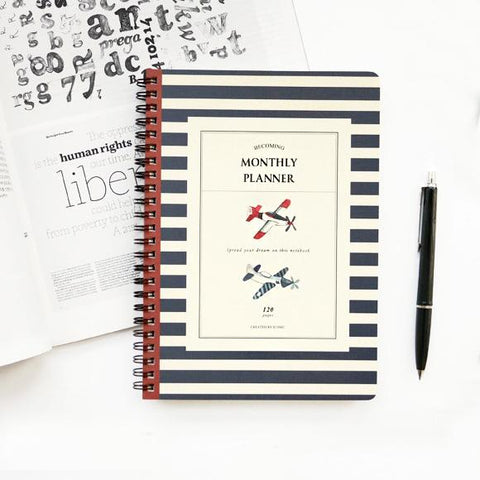 Monthly Planner: Airplane
