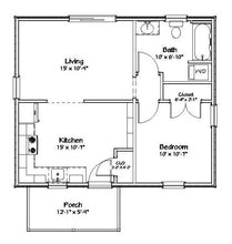 Load image into Gallery viewer, Hanover Cottage Plan - 572 sq. ft.
