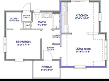 Load image into Gallery viewer, Spring Valley Cottage Plan  -  592 sq. ft.