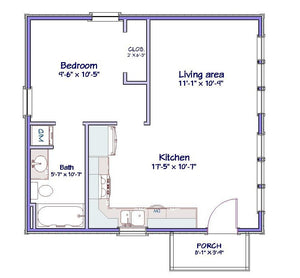 Fairhaven Cottage Plan  -  528 sq. ft.