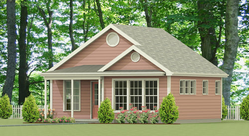 Glenwood Cottage Plan  -  576 sq. ft.