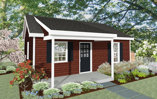 Hamilton Cottage Plan - 572 sq. ft.