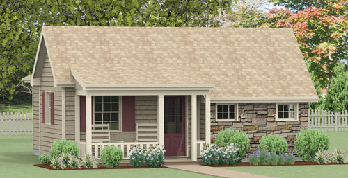 Landenberg Cottage Plan -                                              664 sq. ft.