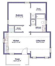 Load image into Gallery viewer, Landenberg Cottage Plan -                                              664 sq. ft.