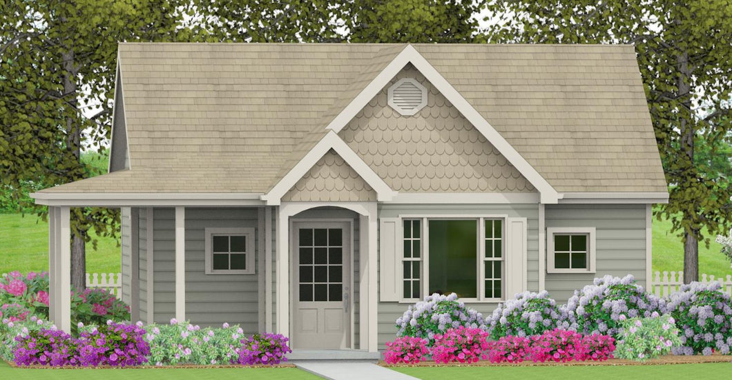 Mercer Cottage Plan  -  600 sq. ft.
