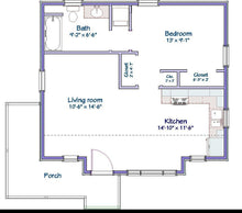 Load image into Gallery viewer, Mercer Cottage Plan  -  600 sq. ft.