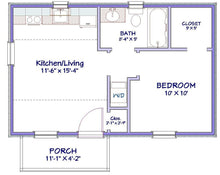 Load image into Gallery viewer, Millford Cottage Plan  -  400 sq. ft.