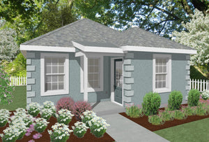 Norwich Cottage Plan - 612 sq. ft.