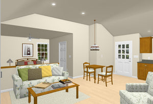 Oxford Cottage Plan - 531 sq. ft.