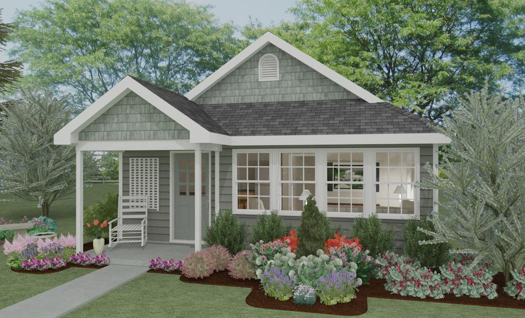 Pebble Hill Cottage Plan - 551 sq. ft.