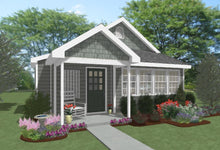 Load image into Gallery viewer, Pebble Hill Cottage Plan - 551 sq. ft.