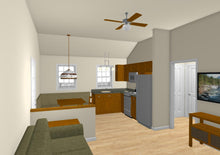 Load image into Gallery viewer, Pine Grove Cottage Plan - 538 sq. ft.