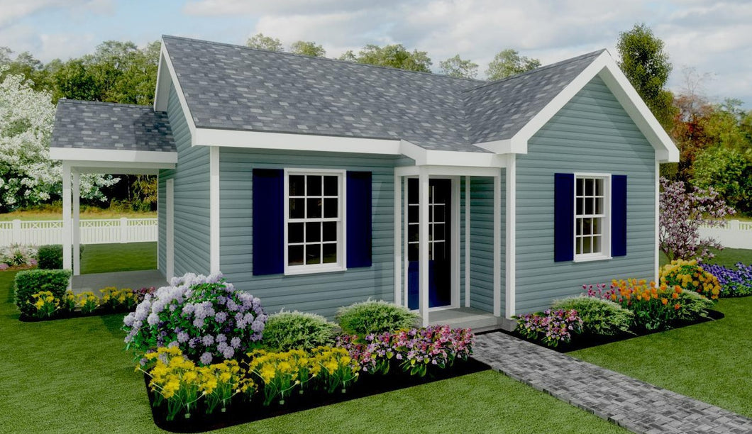 Pine Grove Cottage Plan - 538 sq. ft.