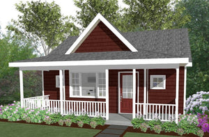 Roxbury Cottage Plan - 600 sq. ft.