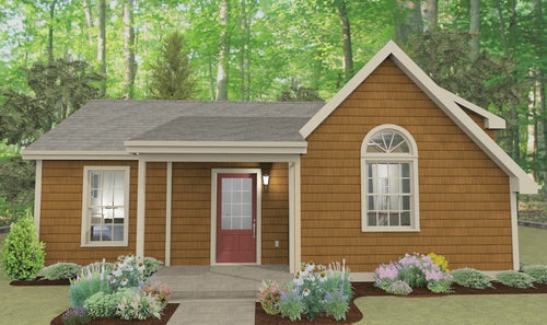 Spring Valley Cottage Plan  -  592 sq. ft.