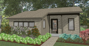 Stillwater Cottage Plan  -  596 sq. ft.