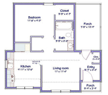 Load image into Gallery viewer, Stockton Cottage Plan  -  560 sq. ft.