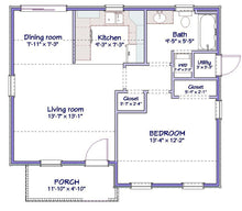 Load image into Gallery viewer, Sundale Cottage Plan  -  630 sq. ft.