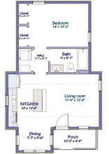 Load image into Gallery viewer, Westbrook Cottage Plan  -  612 sq. ft.