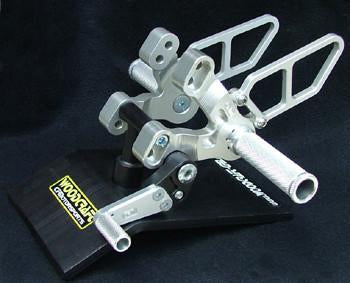 Woodcraft 848/1098/1198 with shift pedal Aluminum Silver clear anodize: Ducati - Tacticalmindz.com