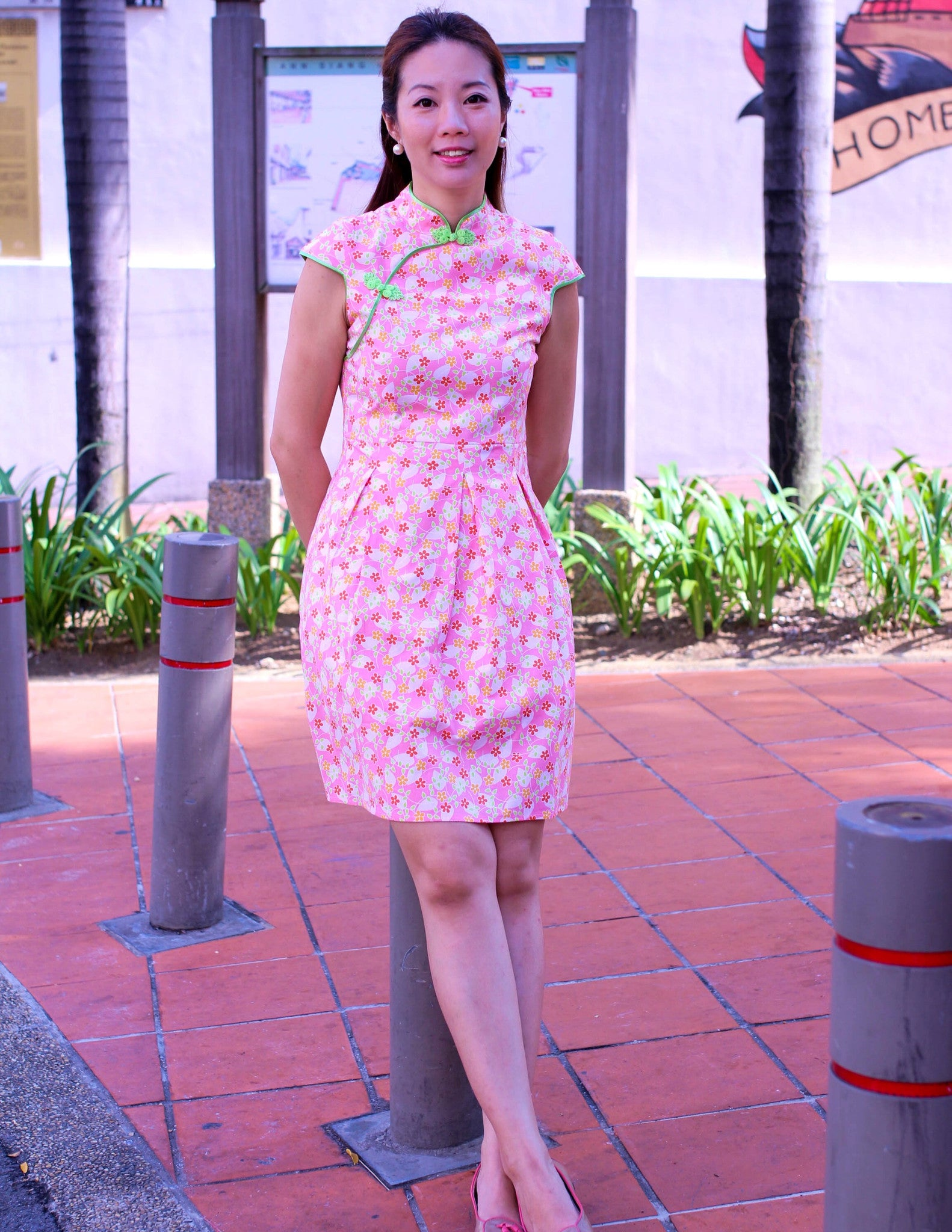 Floating Blossom in Bloom Ladies Cheongsam