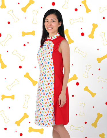 Fortune Dogs Ladies Cheongsam
