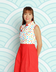 Sea Life in Harmony Girls Cheongsam Dress