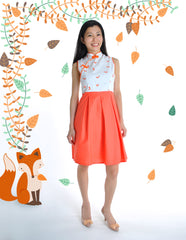 Fortune Foxes in Spring Ladies Cheongsam