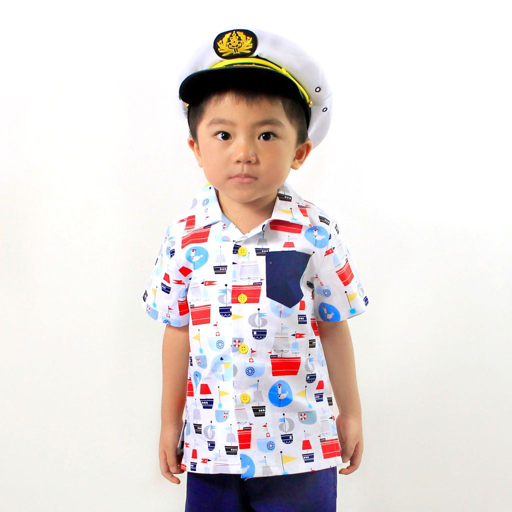 Nautical Sailboats Boys Shirt