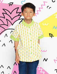 Lucky Pineapple Mandarin Collar Shirt