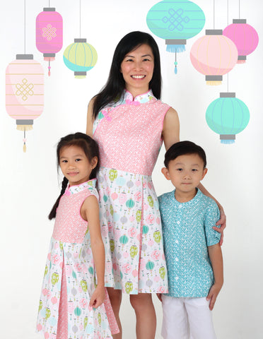 Sky Lantern Girls Cheongsam Dress