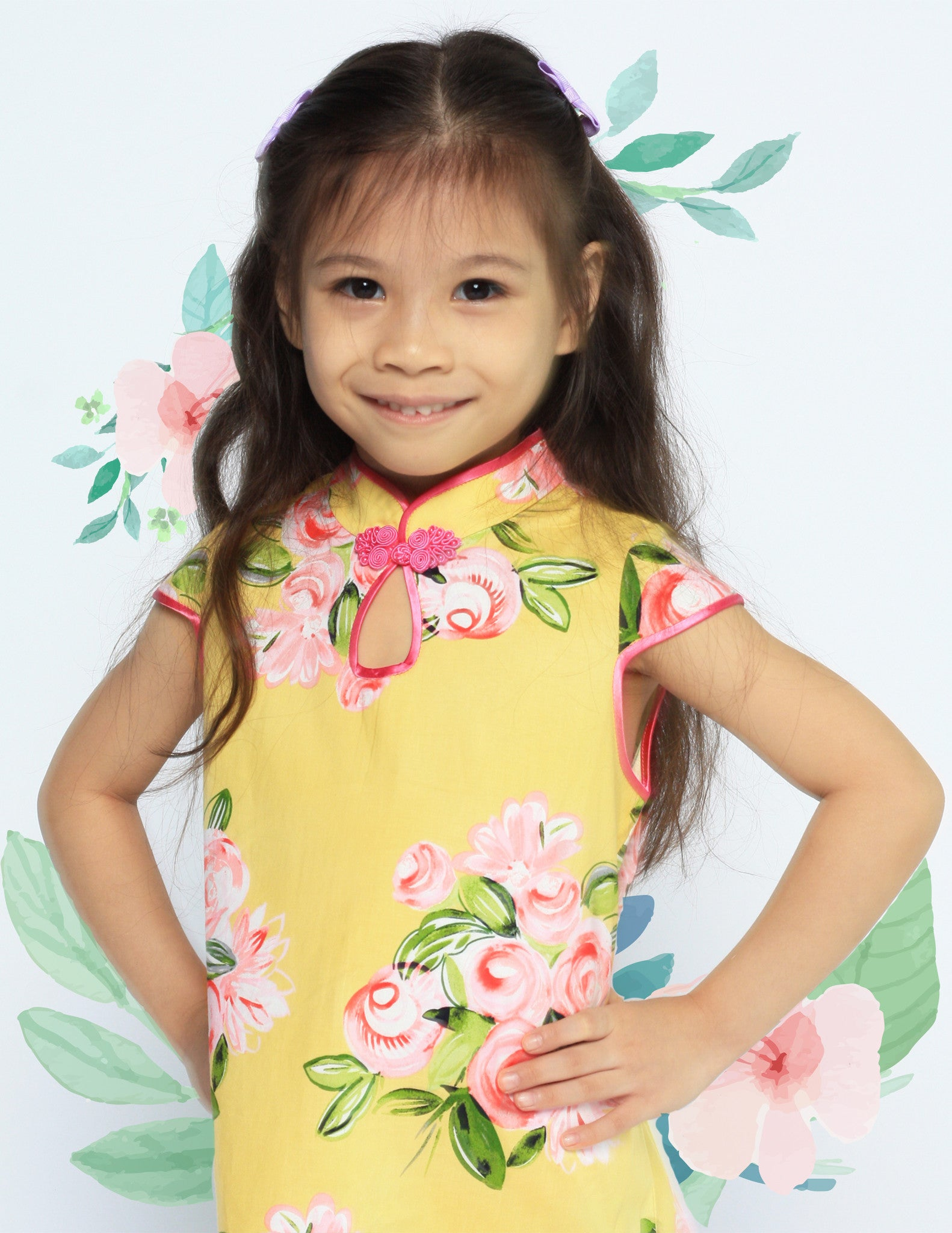 Bella Bouquet in Bloom Girls Cheongsam