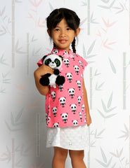 Pink Panda in Harmony Chinese top and skirt set