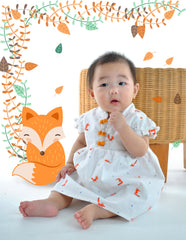 Fortune Foxes in Spring Romper Dress