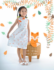 Fortune Foxes in Spring Cheongsam Dress