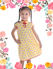 Lil Dotsy in Bloom Girls Cheongsam