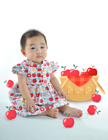 Fortune Apples Romper Dress