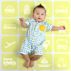 Busy Cars Boys Romper