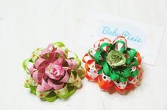 Ribbon Puff Hair Clip